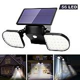 OUSFOT Luz Solar Exterior 56 LED Foco Solar con Sensor de Movimiento Lámpara...